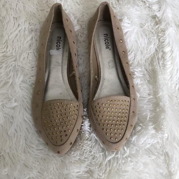 Nicole Shoes - Cute studded flats